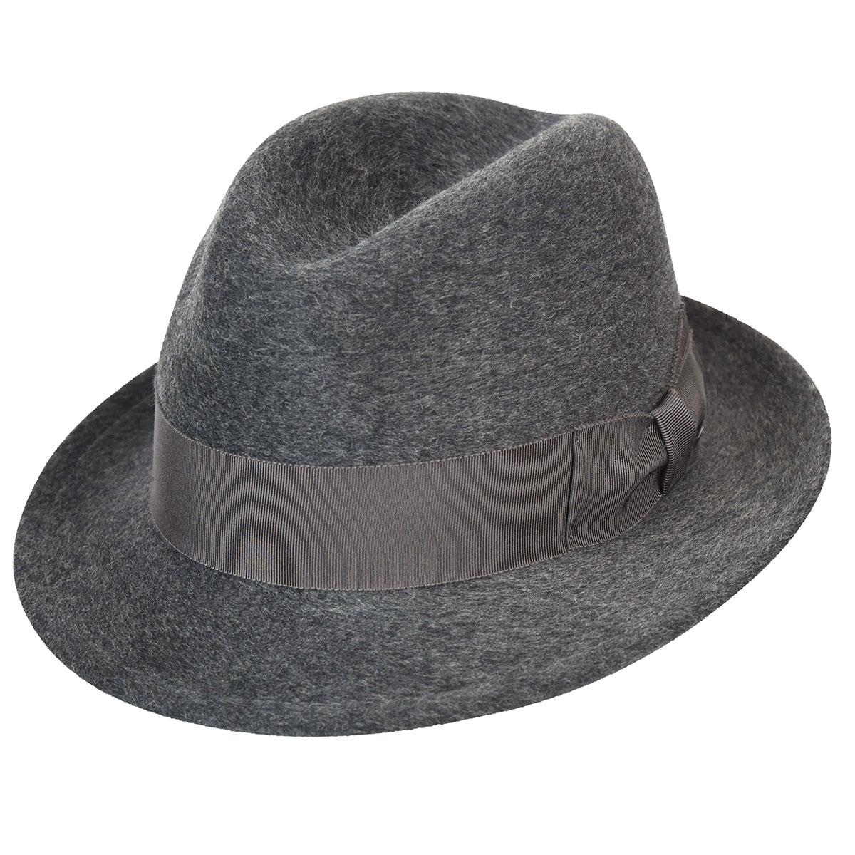 1920s Mens Hats & Caps | Gatsby, Peaky Blinders, Gangster Riff Fedora $93.75 AT vintagedancer.com