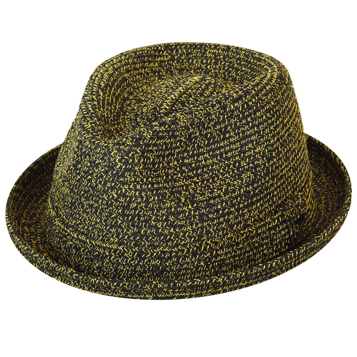 Bailey of Hollywood Billy Braided Trilby in Black,Mustard