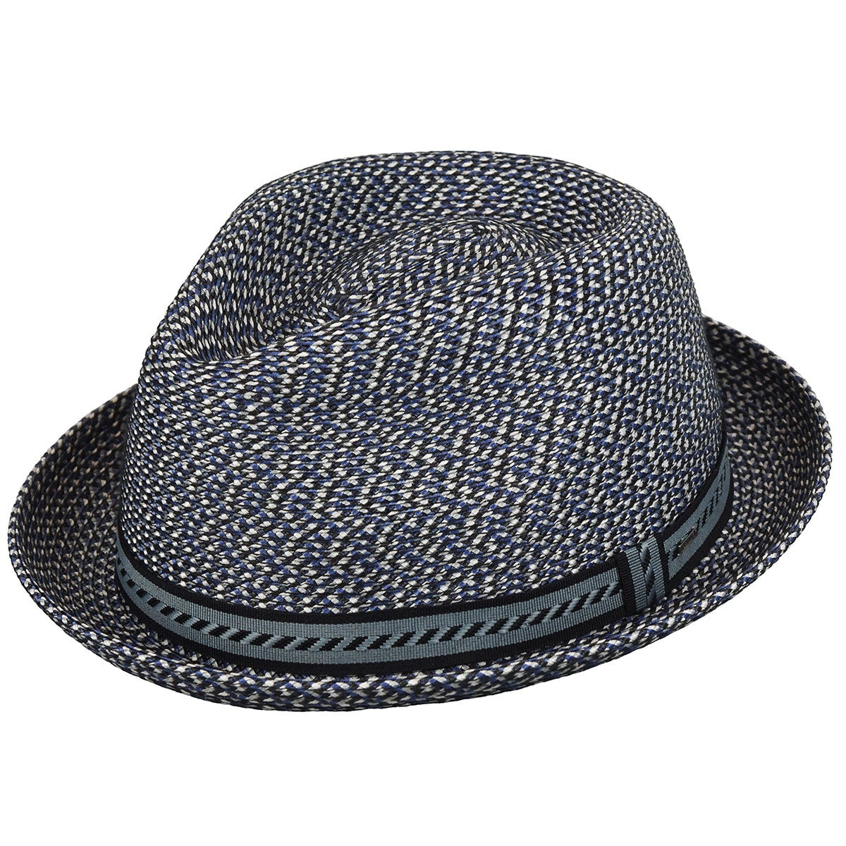1960s – 70s Style Men's Hats Mannes Braided Trilby $66.00 AT vintagedancer.com