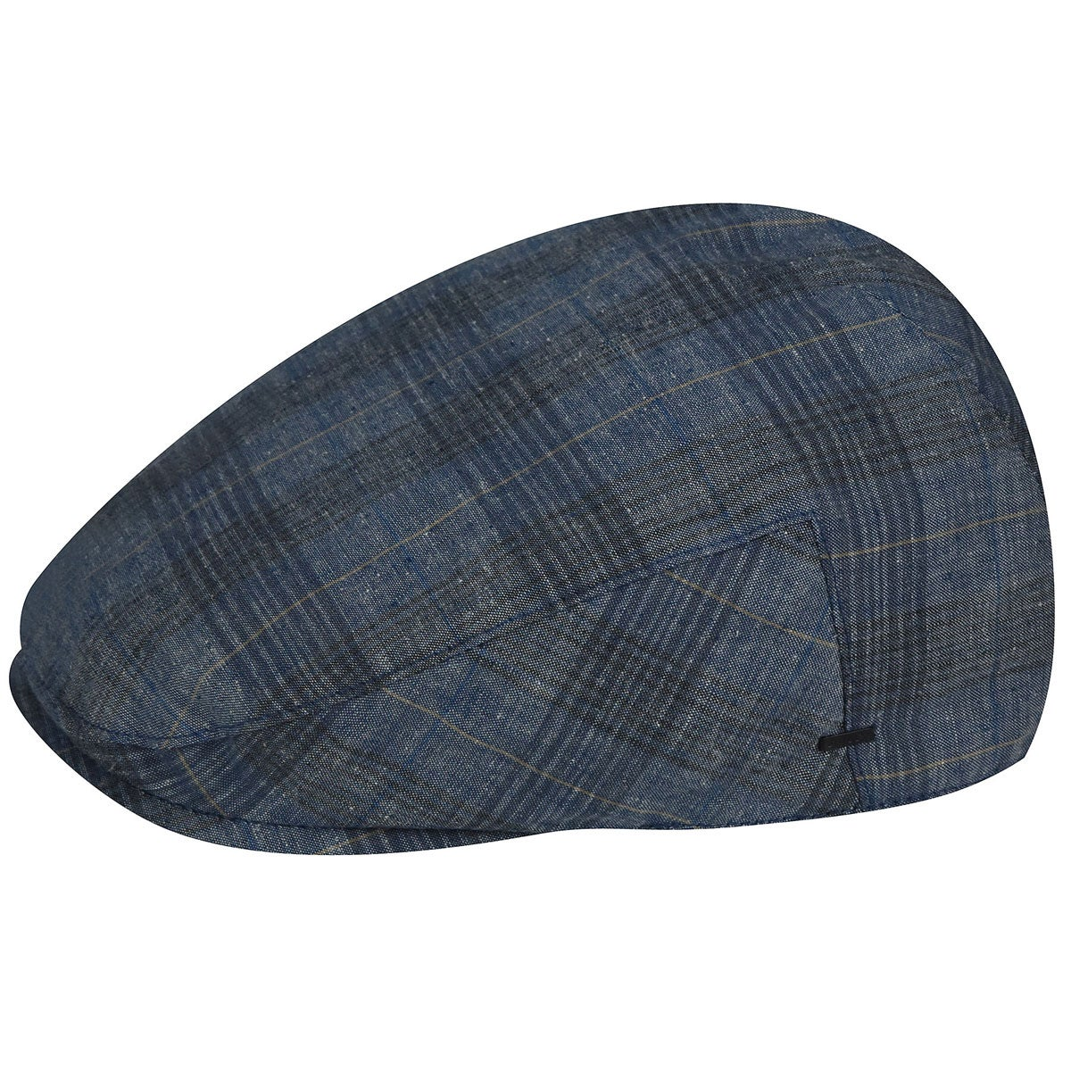 Bailey of Hollywood Chiron Flat Cap in Light Blue Plaid