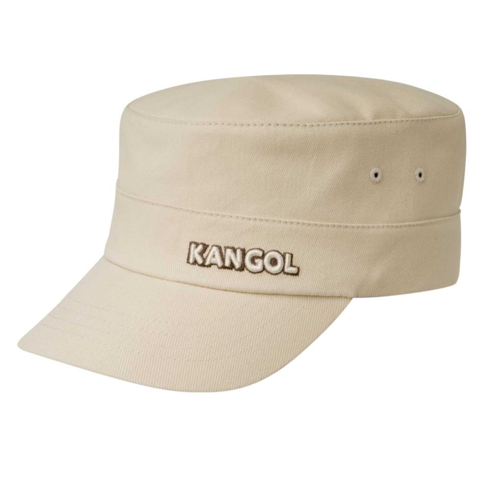 Kangol Cotton Twill Army Cap in Beige