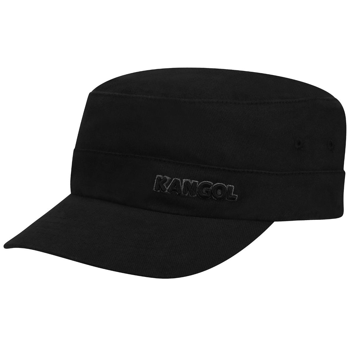 Kangol Cotton Twill Army Cap in Black