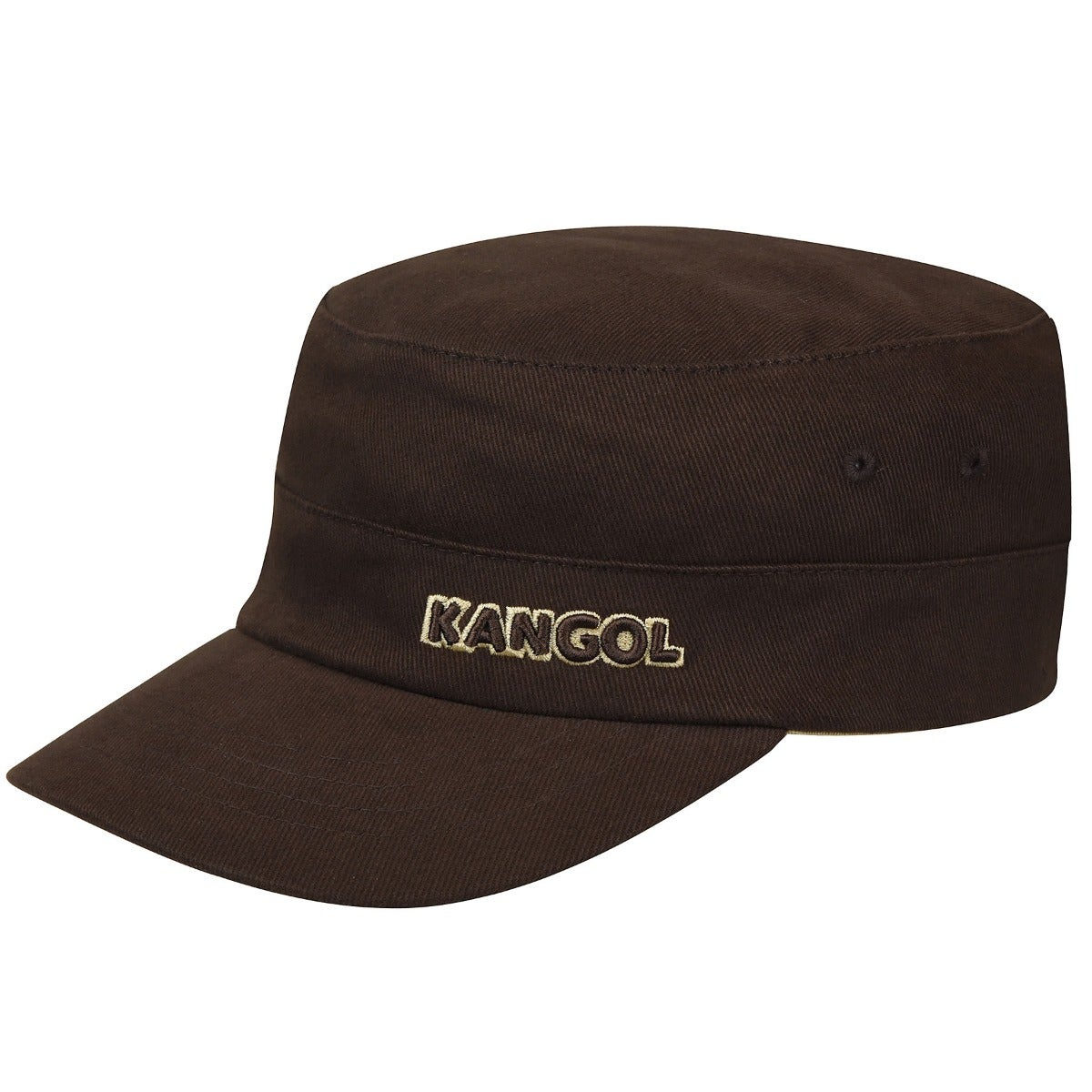 Kangol Cotton Twill Army Cap in Brown