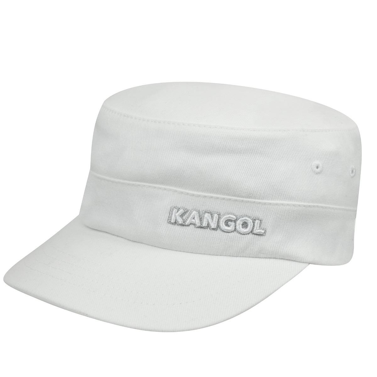 Kangol Cotton Twill Army Cap in White
