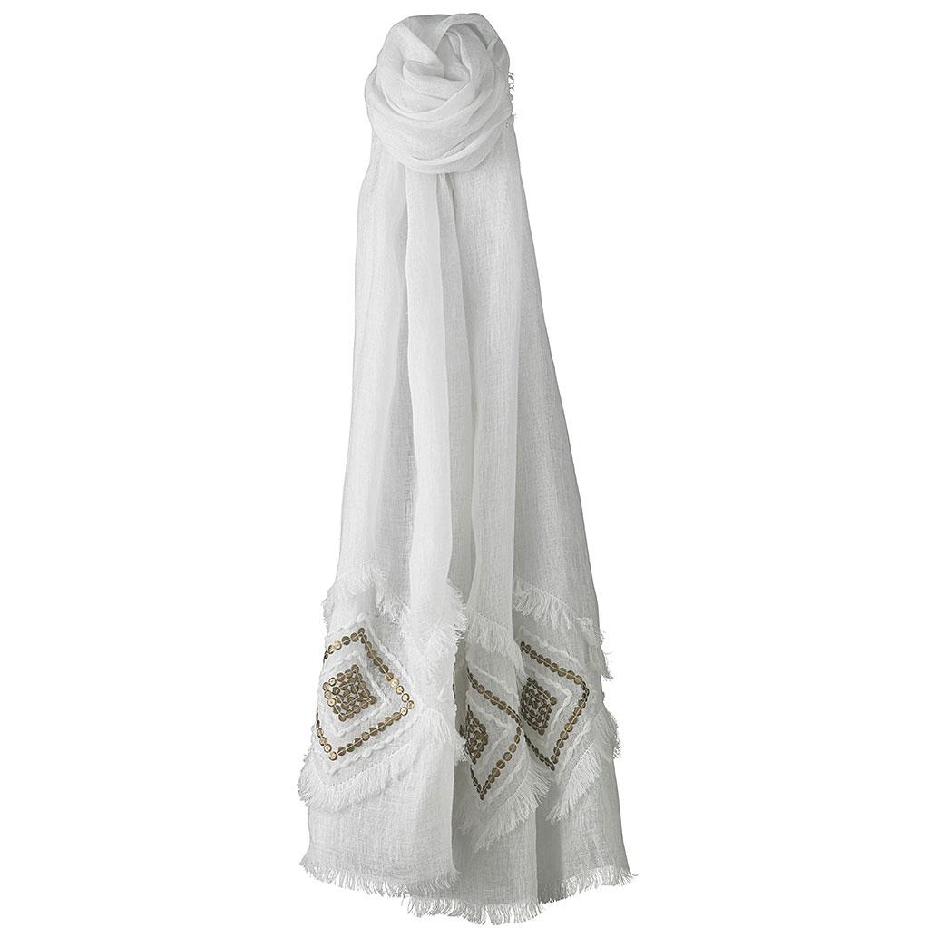 Helen Kaminski Anica Oblong Scarf in White