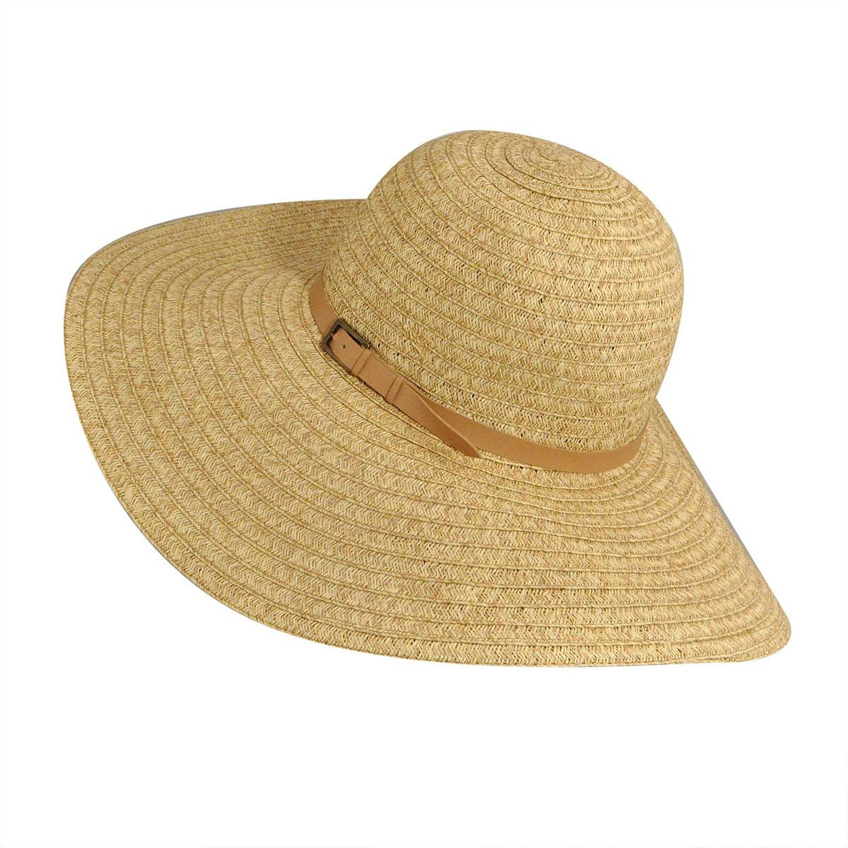 Betmar Ramona Braid Floppy Hat in Natural Multi