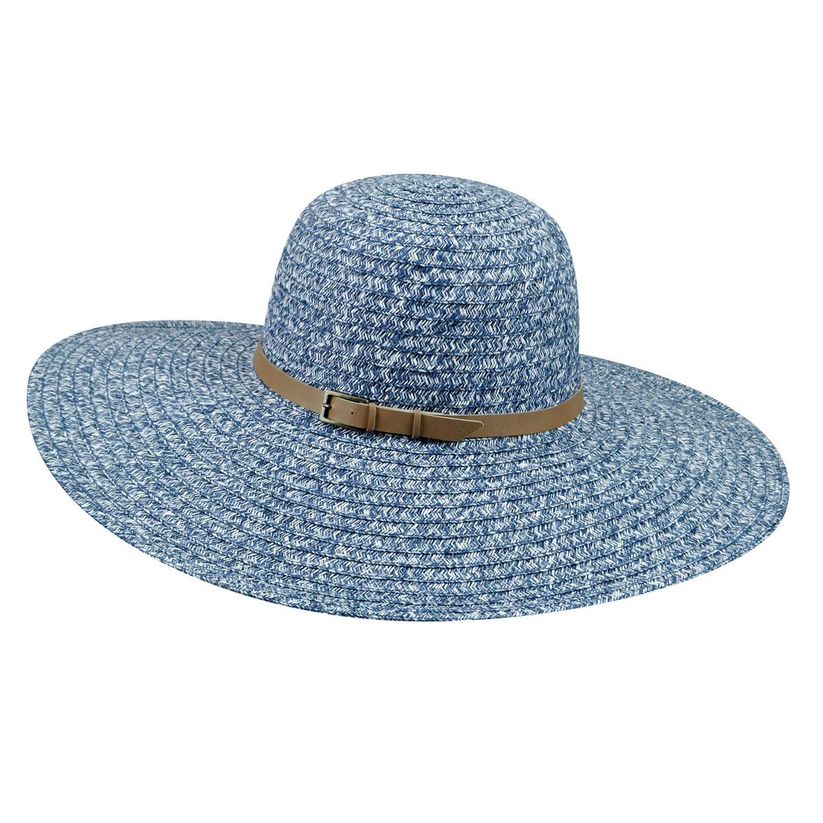 Betmar Ramona Braid Floppy Hat in Navy Multi