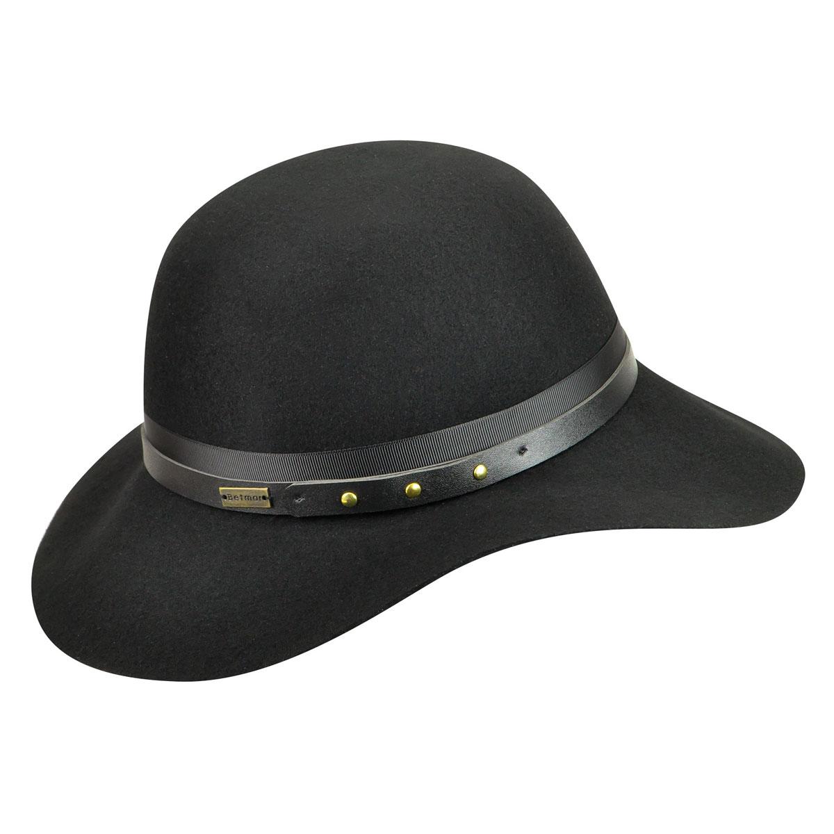 Betmar Hayden Floppy Hat in Black