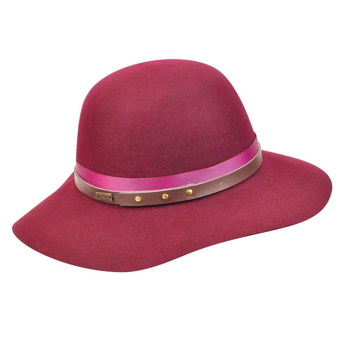 Betmar Hayden Floppy Hat in Cranberry