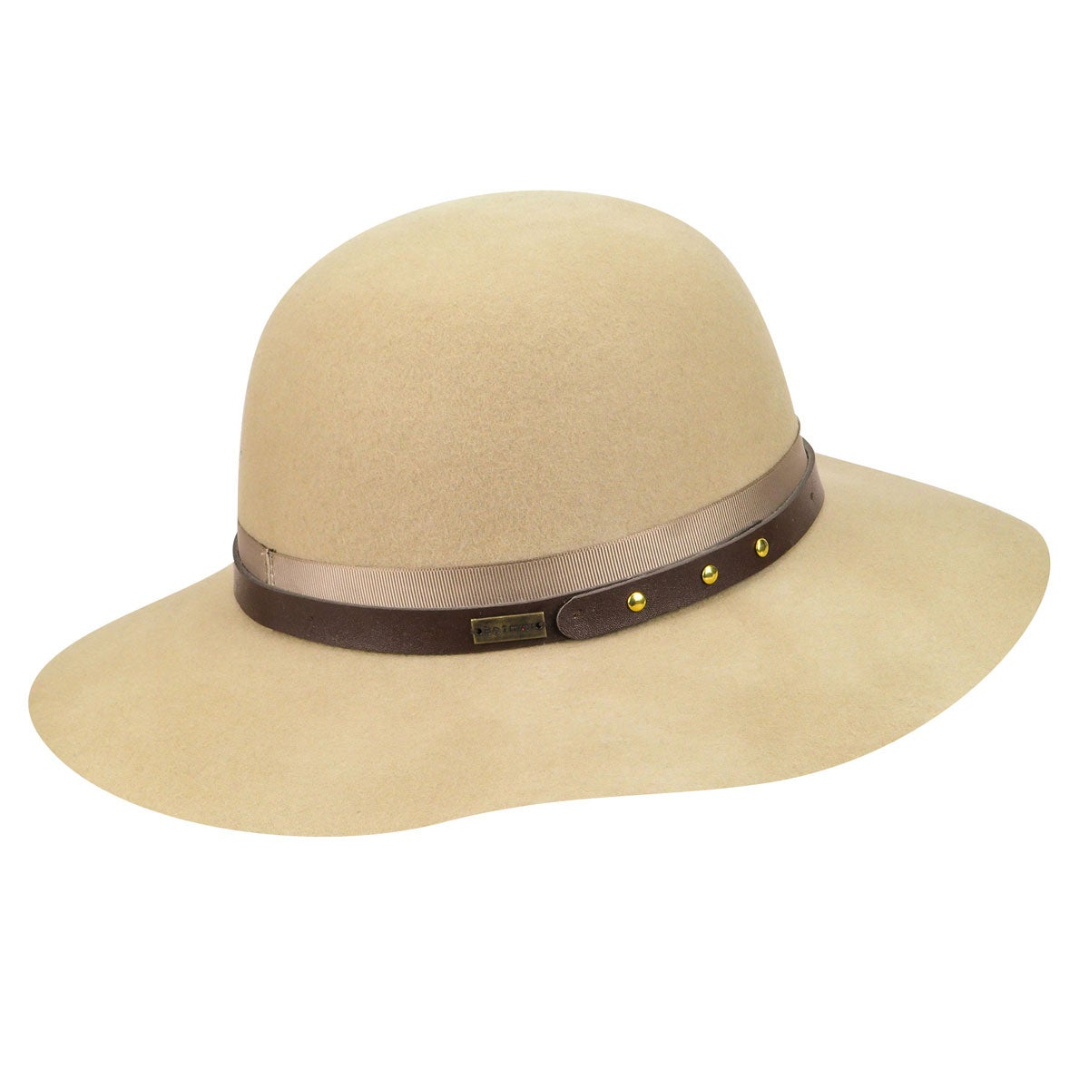 Betmar Hayden Floppy Hat in Light Camel