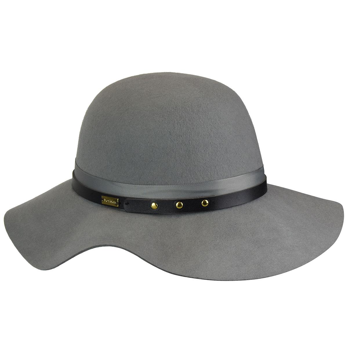 Betmar Hayden Floppy Hat in Light Grey