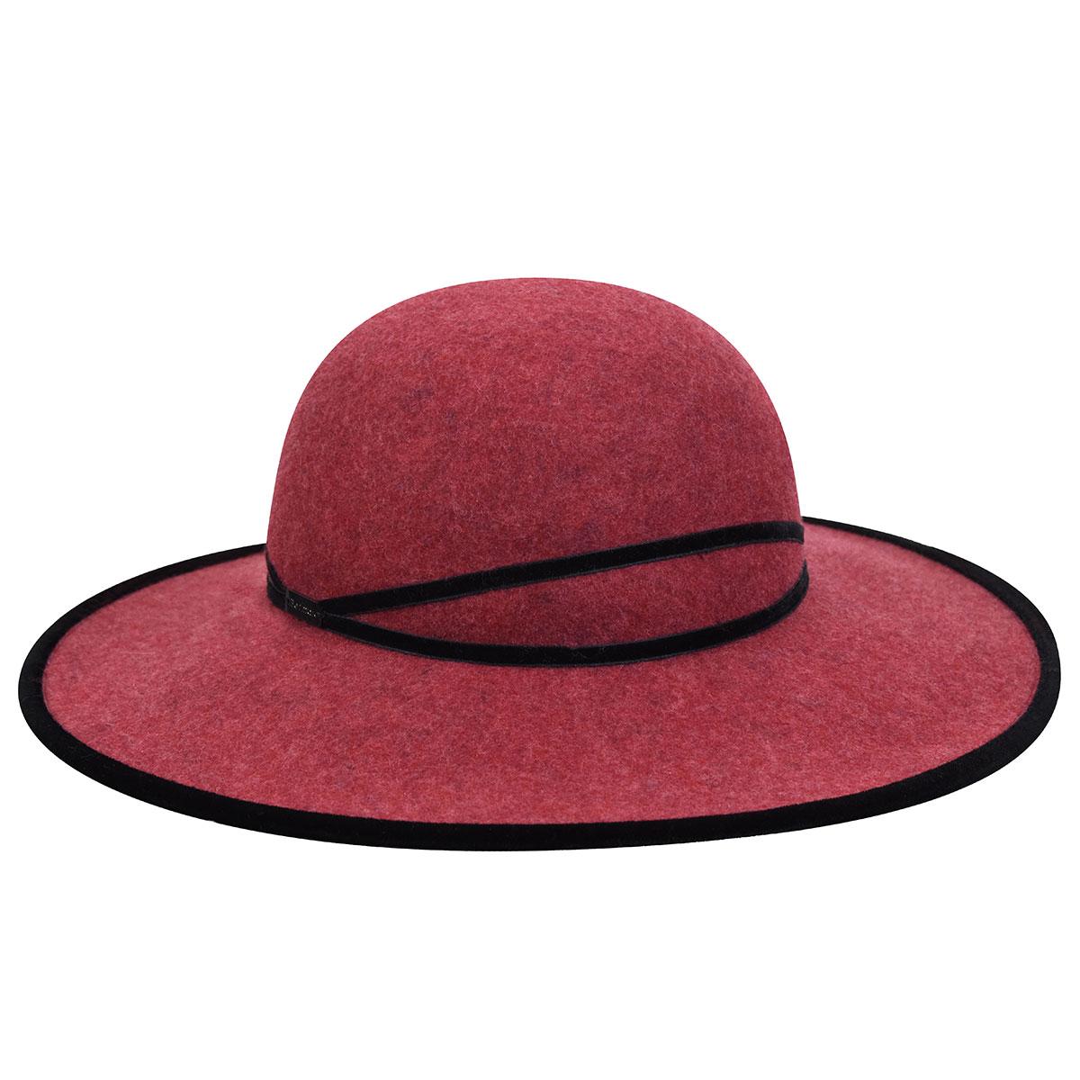 Betmar Marseille Wide Brim Hat in Strawberry