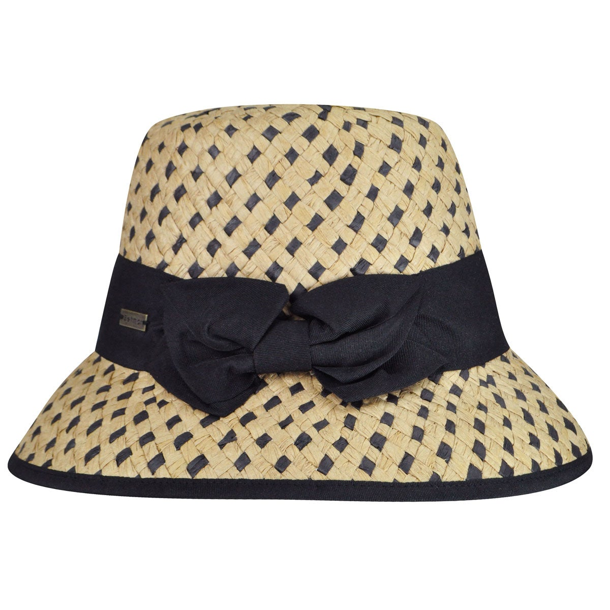 Betmar Bridgitte Bucket Hat in Natural,Black