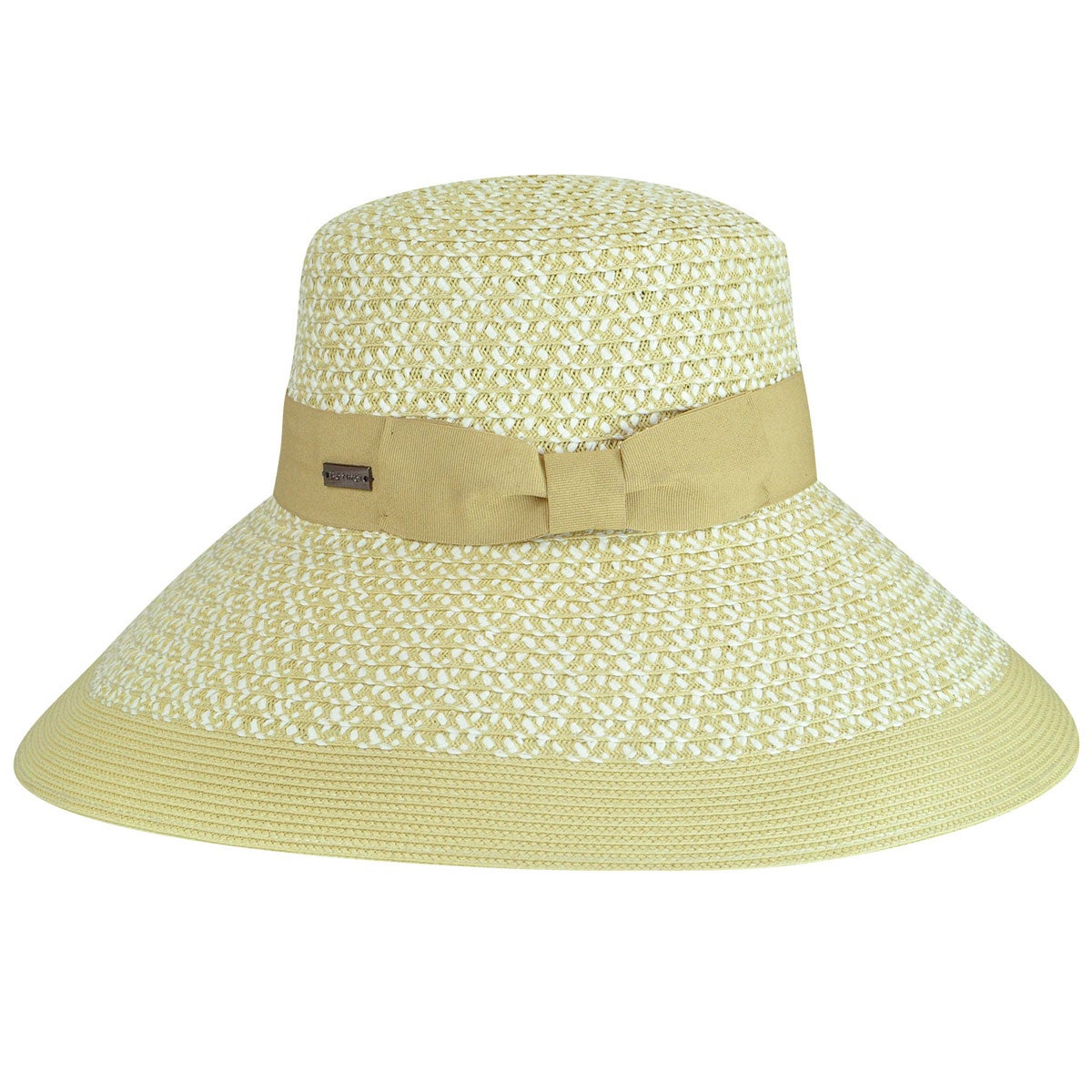 Betmar Audrey Braided Wide Brim Hat in White,Natural