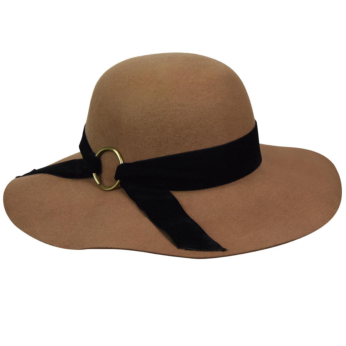 Hippie Costumes, Hippie Outfits Wharton Wide Brim Floppy Hat $64.00 AT vintagedancer.com