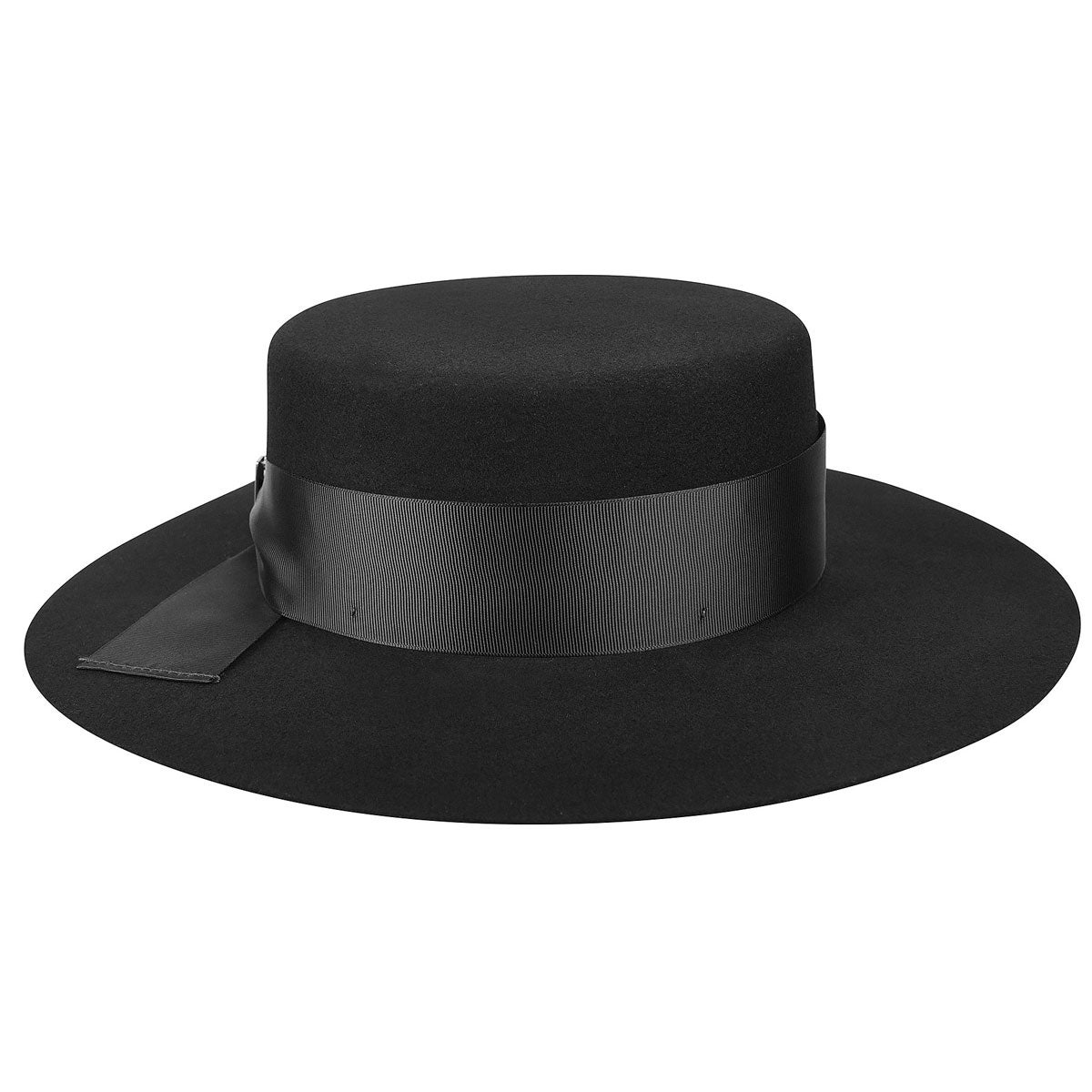 Edwardian Hats, Titanic Hats, Tea Party Hats Aldridge Wide Brim Boater $85.00 AT vintagedancer.com