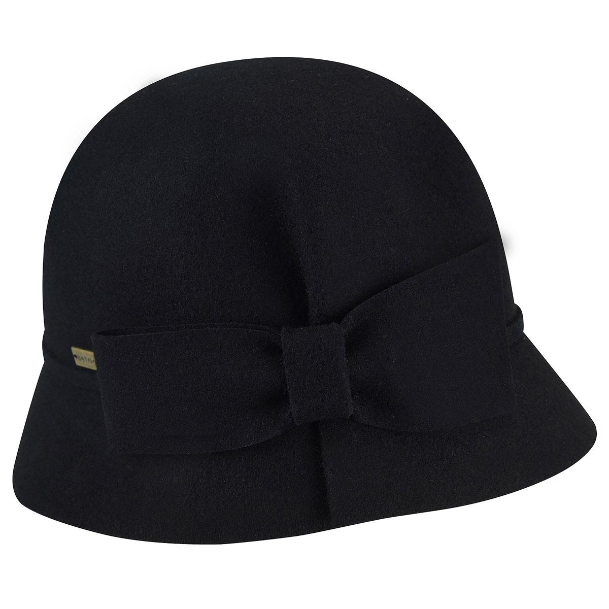 Betmar Dixie Cloche in Black