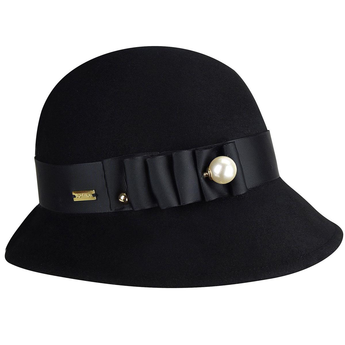 Betmar Cassat LiteFelt Cloche in Black