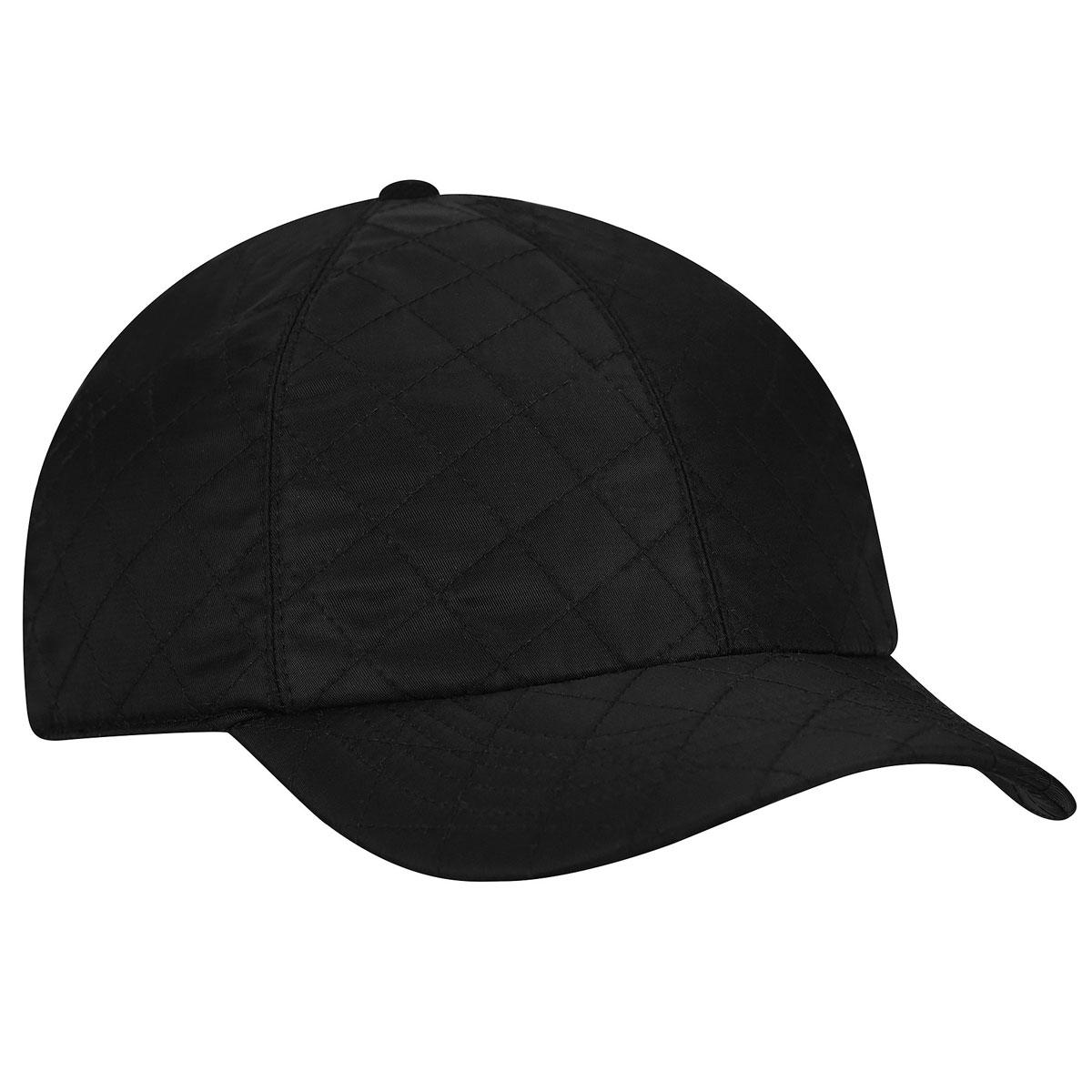 Betmar Quilted Rain Cap in Black