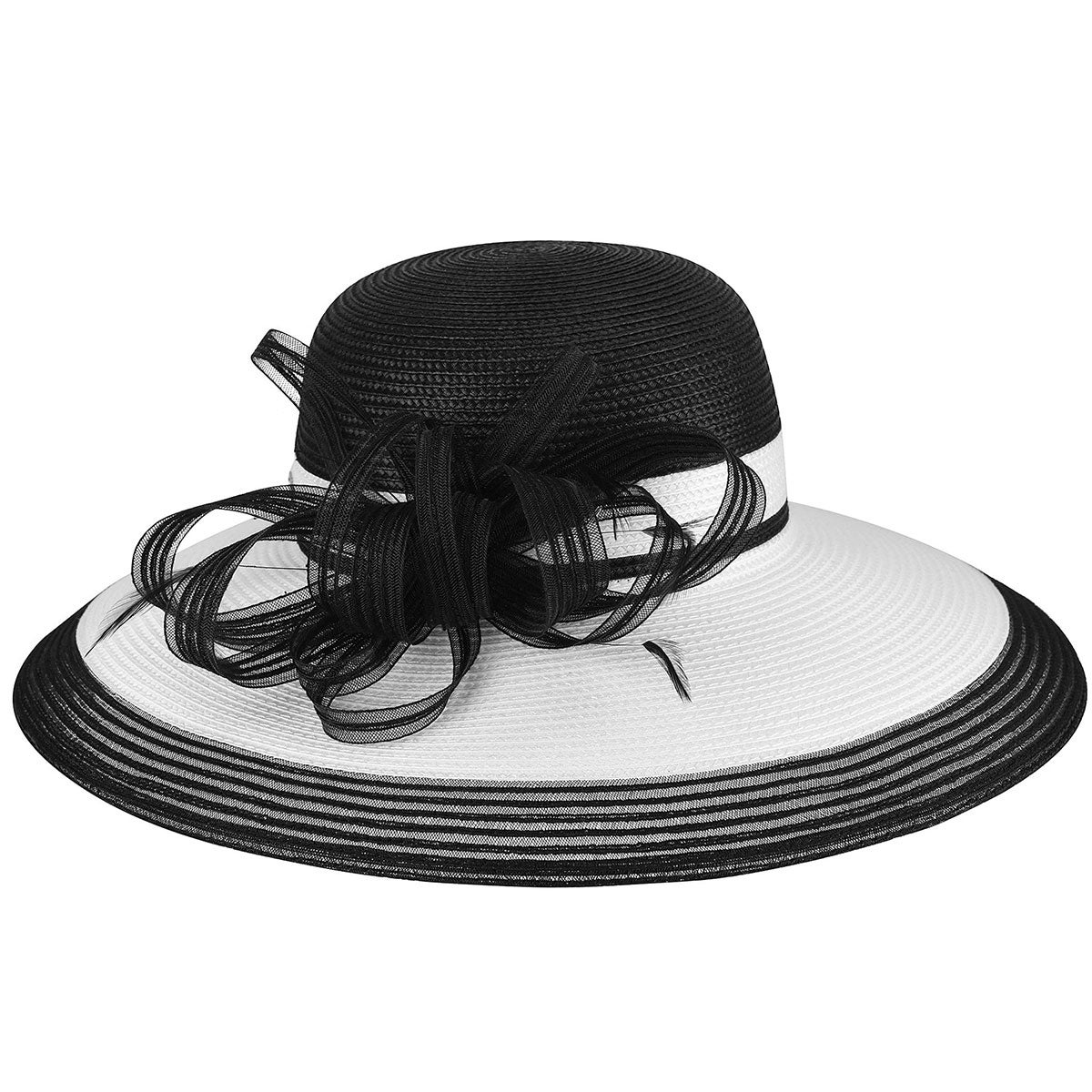 Betmar Barrymore Dress Hat in Black,White