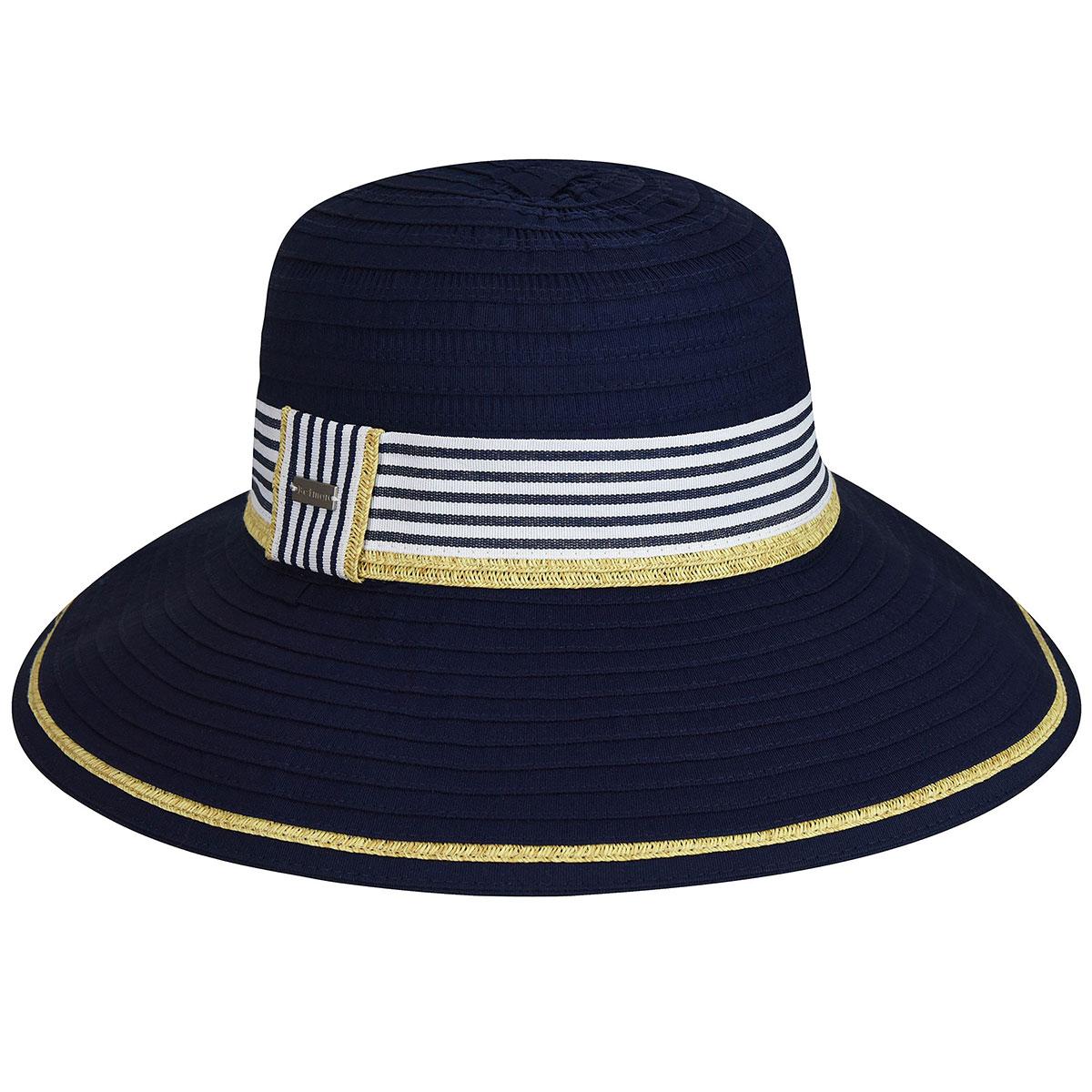 Betmar Atlantis Wide Brim Hat in Navy
