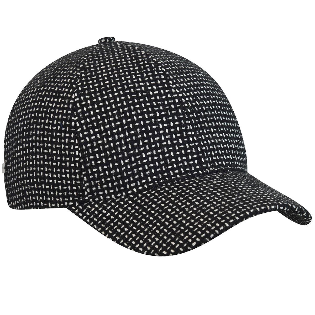 Betmar Pattern Baseball Cap in Black,White