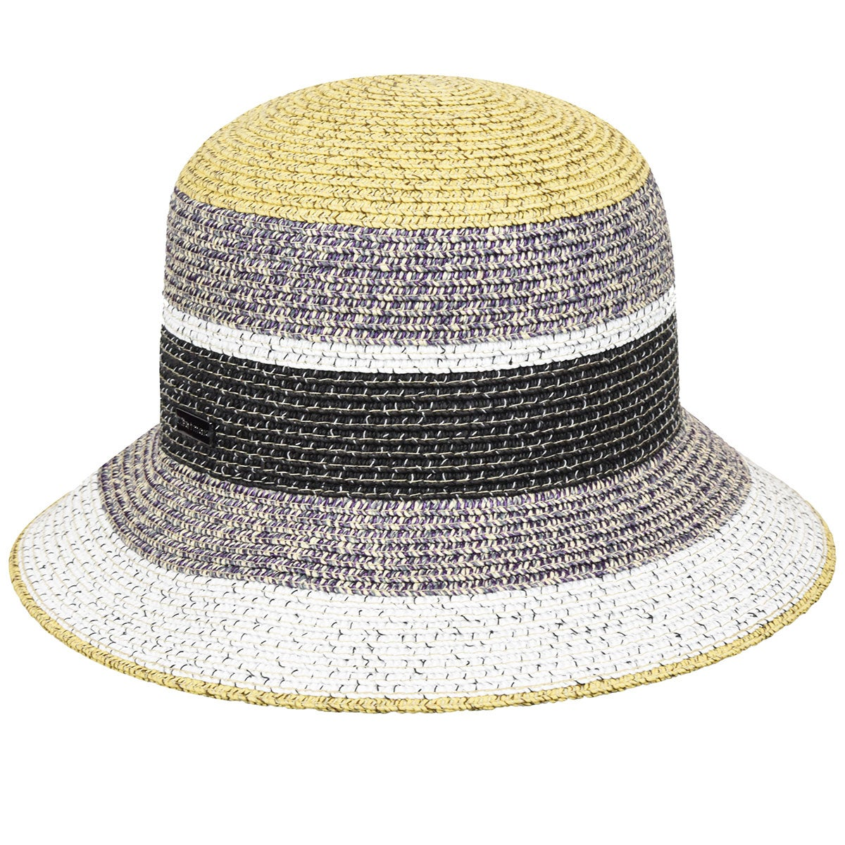 Betmar Catherine Braided Cloche in Mulberry Multi