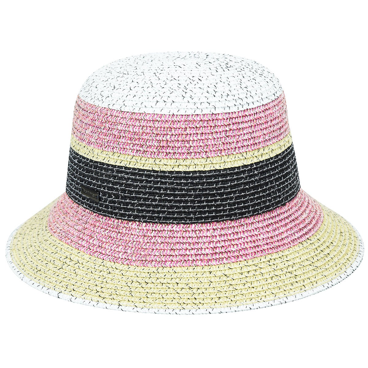 Betmar Catherine Braided Cloche in Pink Multi