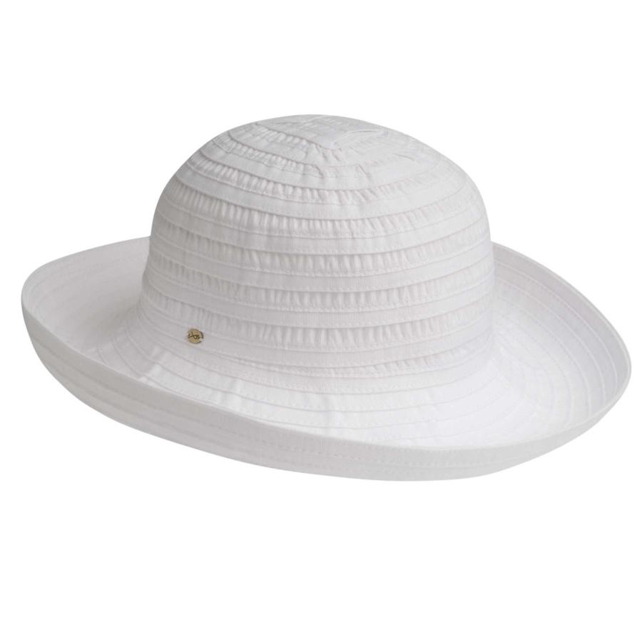 Betmar Classic Sunshade Hat in White