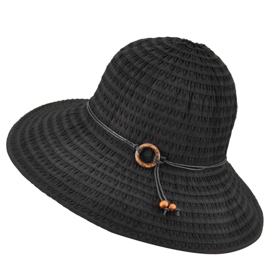 Betmar Coconut Ring Safari Hat in Black