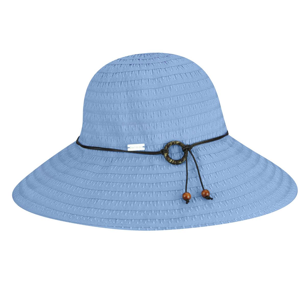 Betmar Coconut Ring Safari Hat in Periwinkle