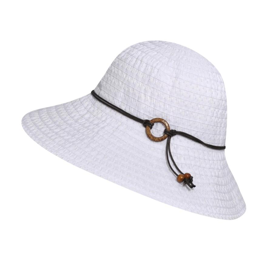 Betmar Coconut Ring Safari Hat in White