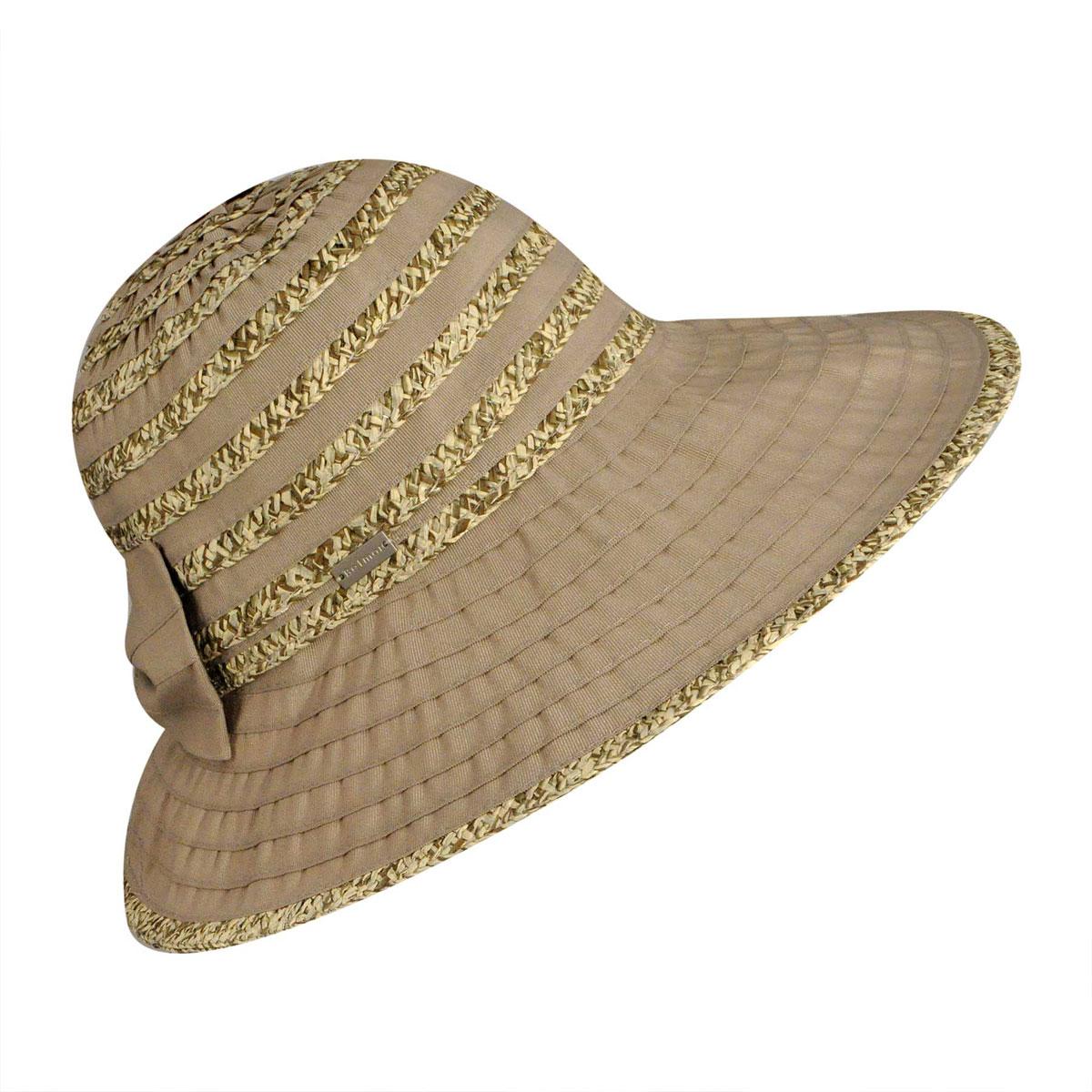 Betmar Donna Wide Brim Sun Hat in Sand Multi