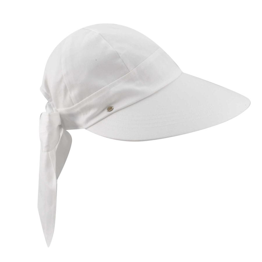 Betmar Face Framer Cap in White