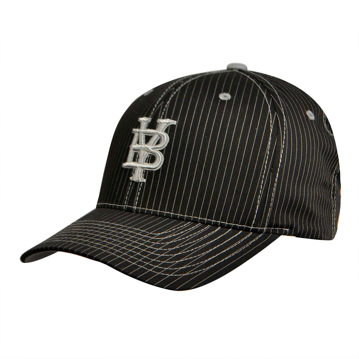 Bailey Western Legion Baseball Cap in Black Pin Stripe