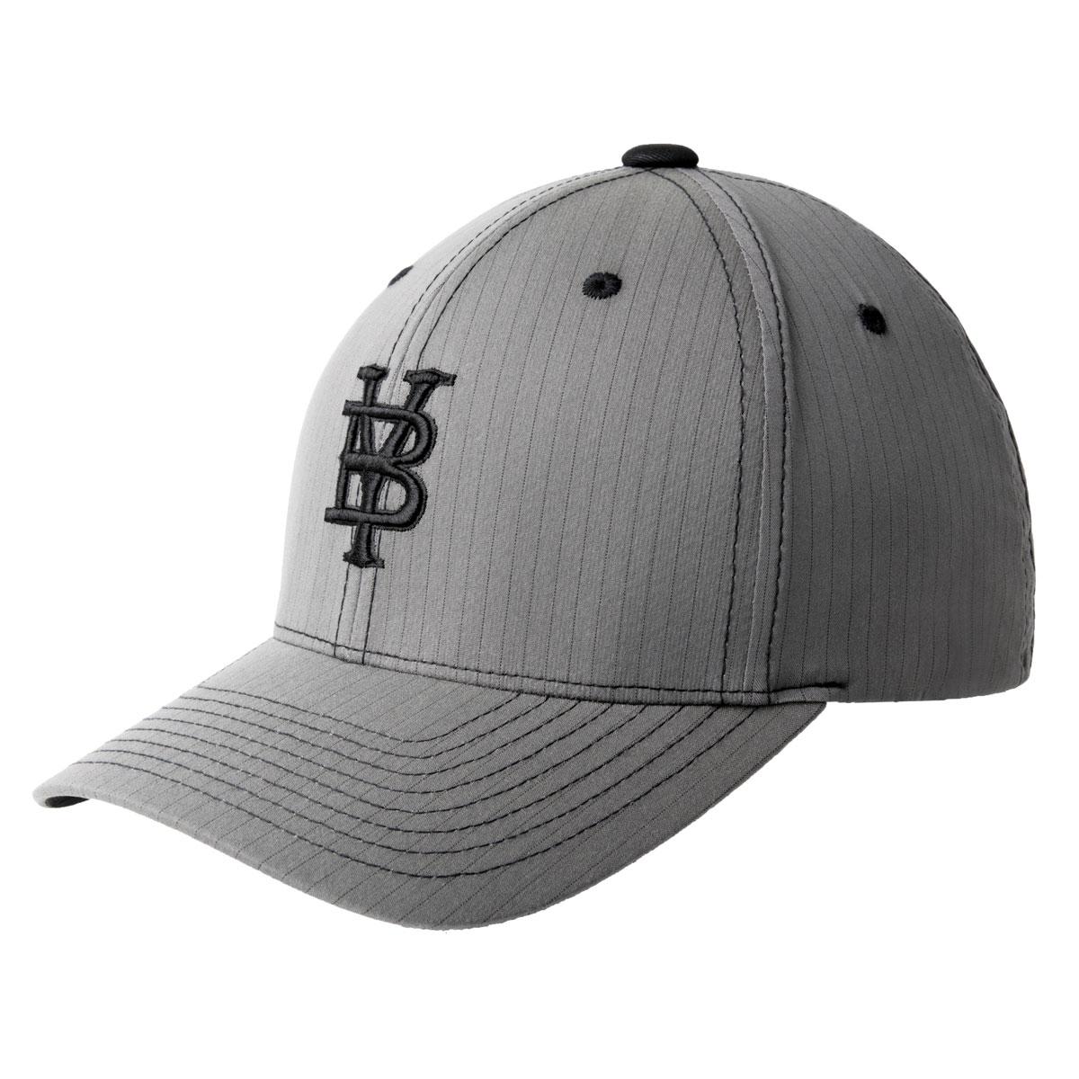 Bailey Western Legion Baseball Cap in Charcoal Pinstripe