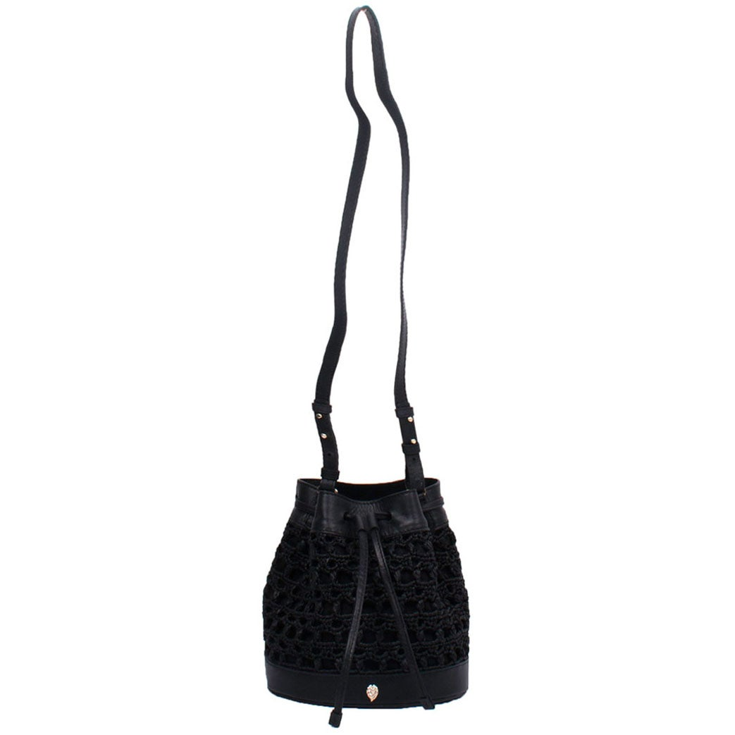 Helen Kaminski Barbados Bucket Bag in Charcoal,Black
