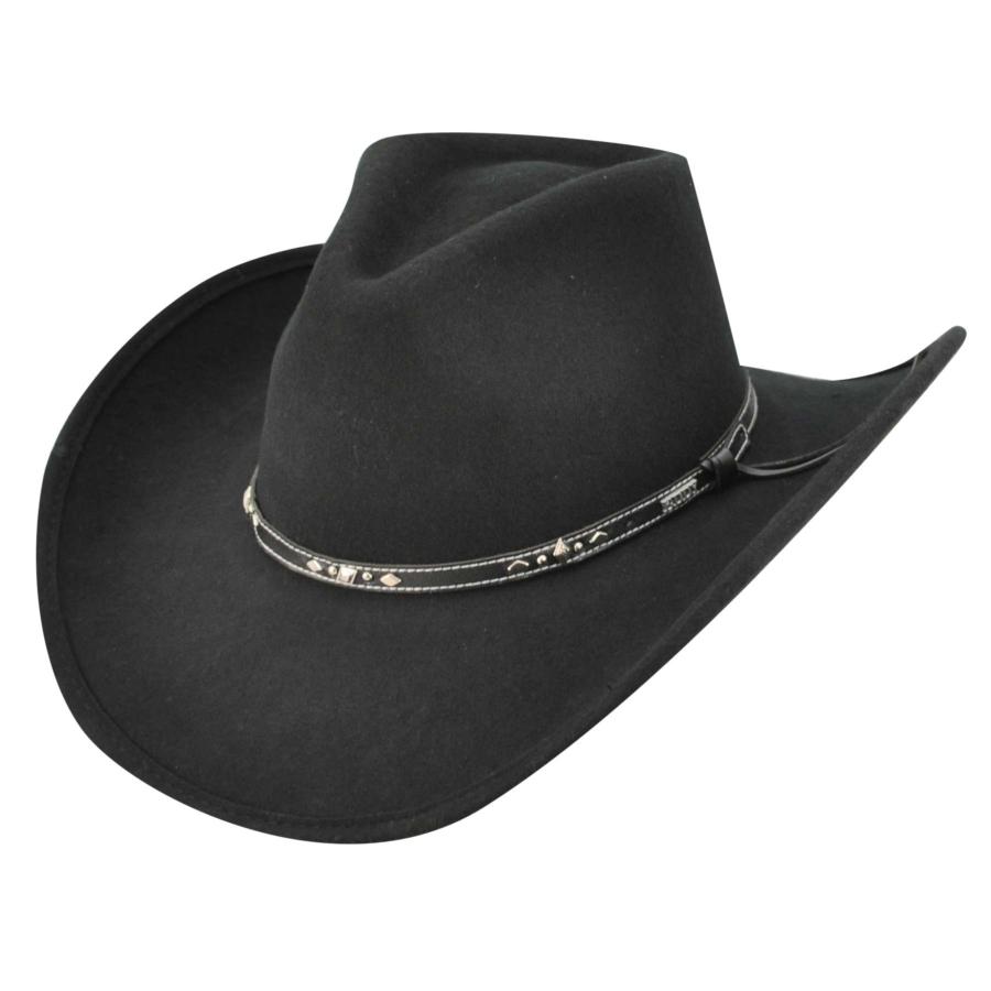 Eddy Bros. Buckhorn Western Hat in Black