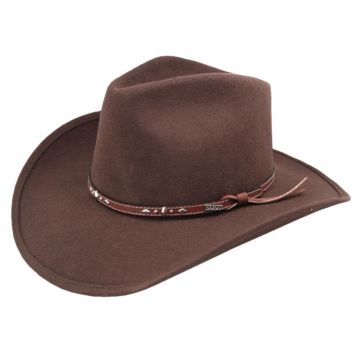 Eddy Bros. Buckhorn Western Hat in Pecan