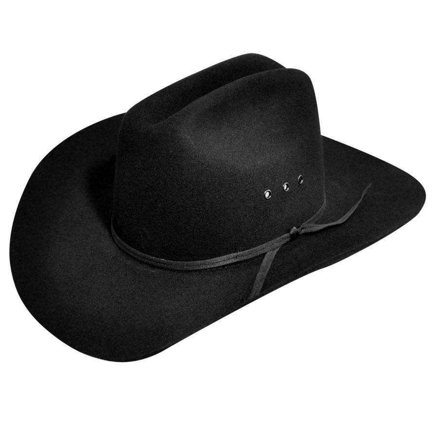 Bailey Western Bucky Kids Hat in Black