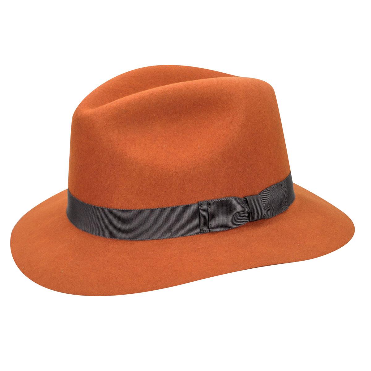 Pantropic Hunter LiteFelt Fedora in Burnt Orange