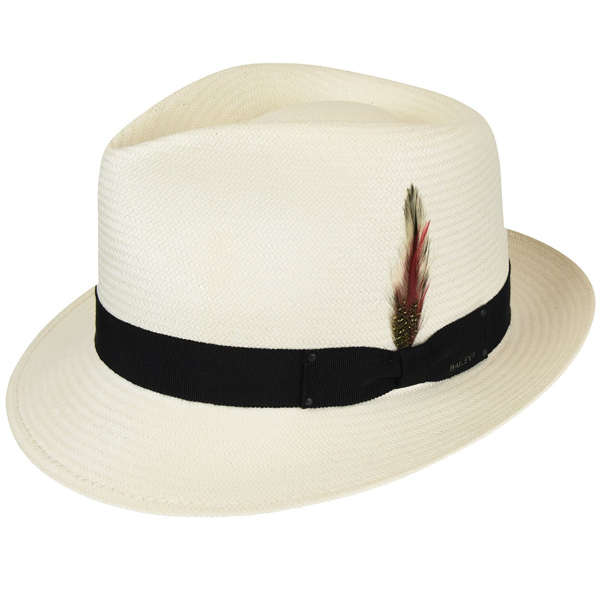 Bailey of Hollywood Guthrie Litestraw Fedora in Natural,Black