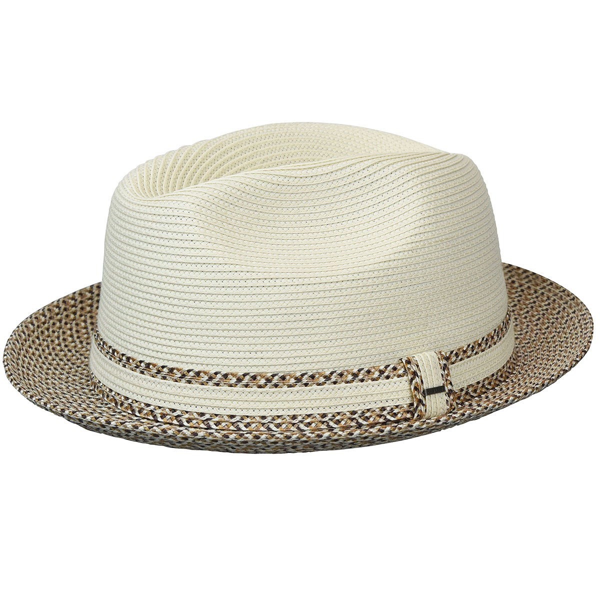 """Medium  2 1//2/"""" Brim Fedora Summer     UNIQUE Bailey USA Hat 100/% Lite Straw Sz"""