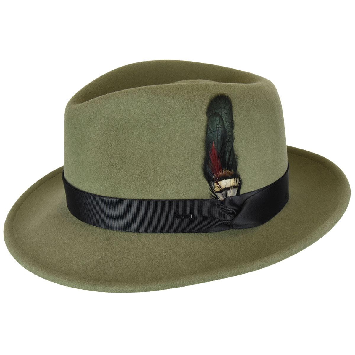 1940s Mens Hat Styles and History Metrick Fedora $120.00 AT vintagedancer.com