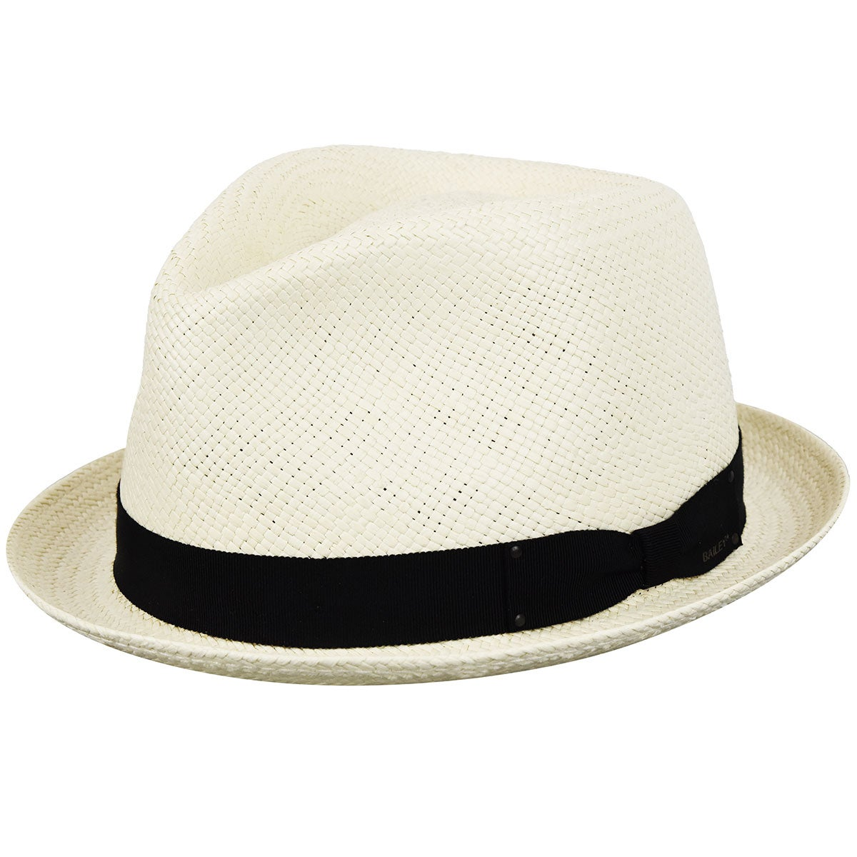 Men's Vintage Style Hats, Retro Hats Sydney Straw Panama Trilby $116.25 AT vintagedancer.com