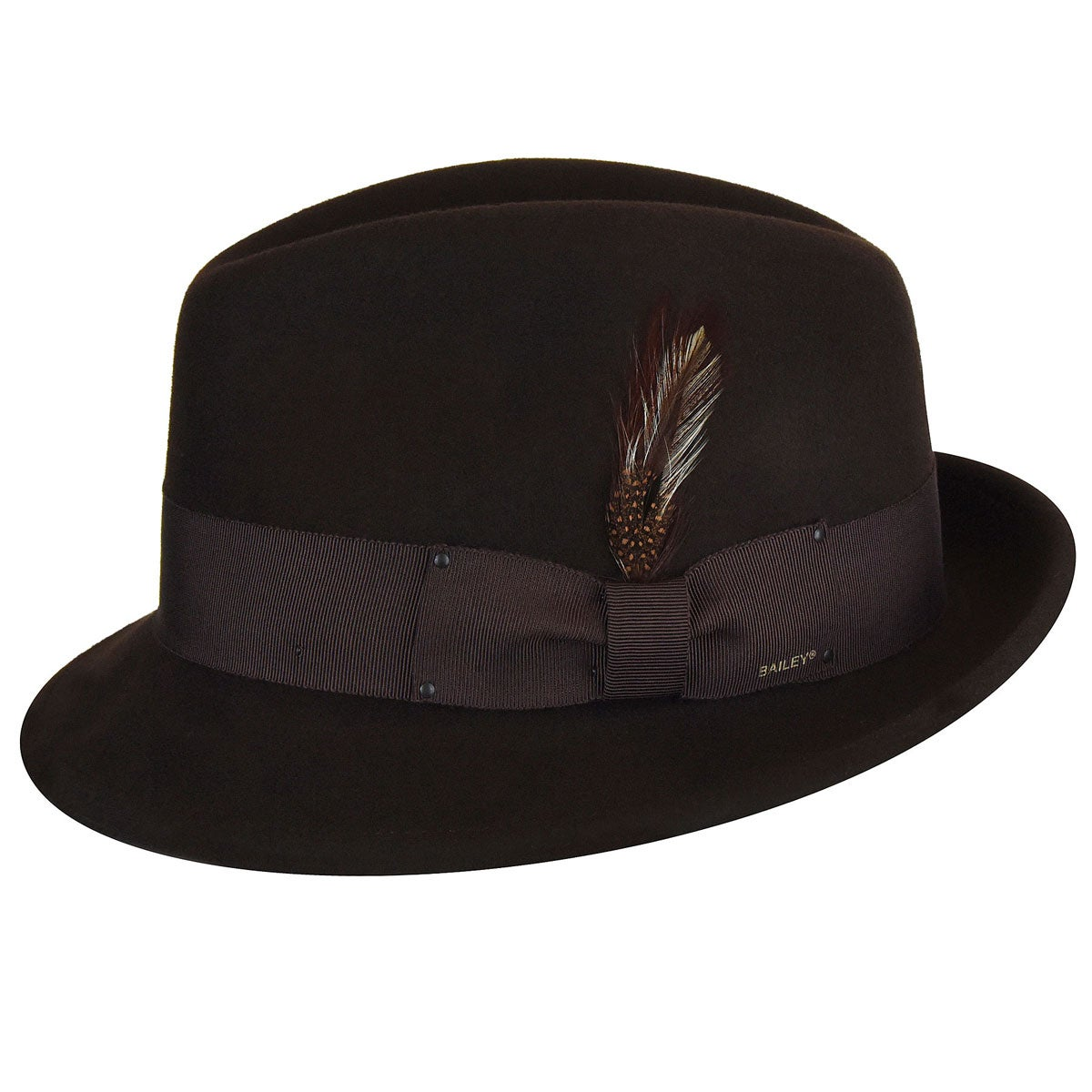Bailey of Hollywood Tino LiteFelt Fedora in Brown
