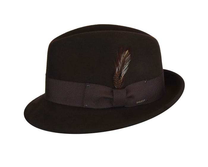 00fff8888fed17 Bailey Tino Fedora | Vintage Versatility from Hats.com