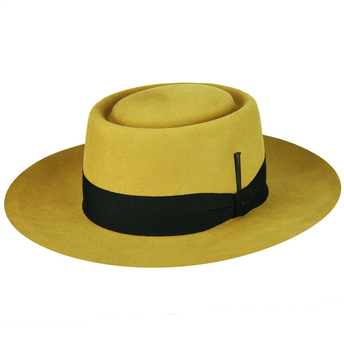 Men's Vintage Style Hats, Retro Hats Walsh Elite Pork Pie $138.75 AT vintagedancer.com