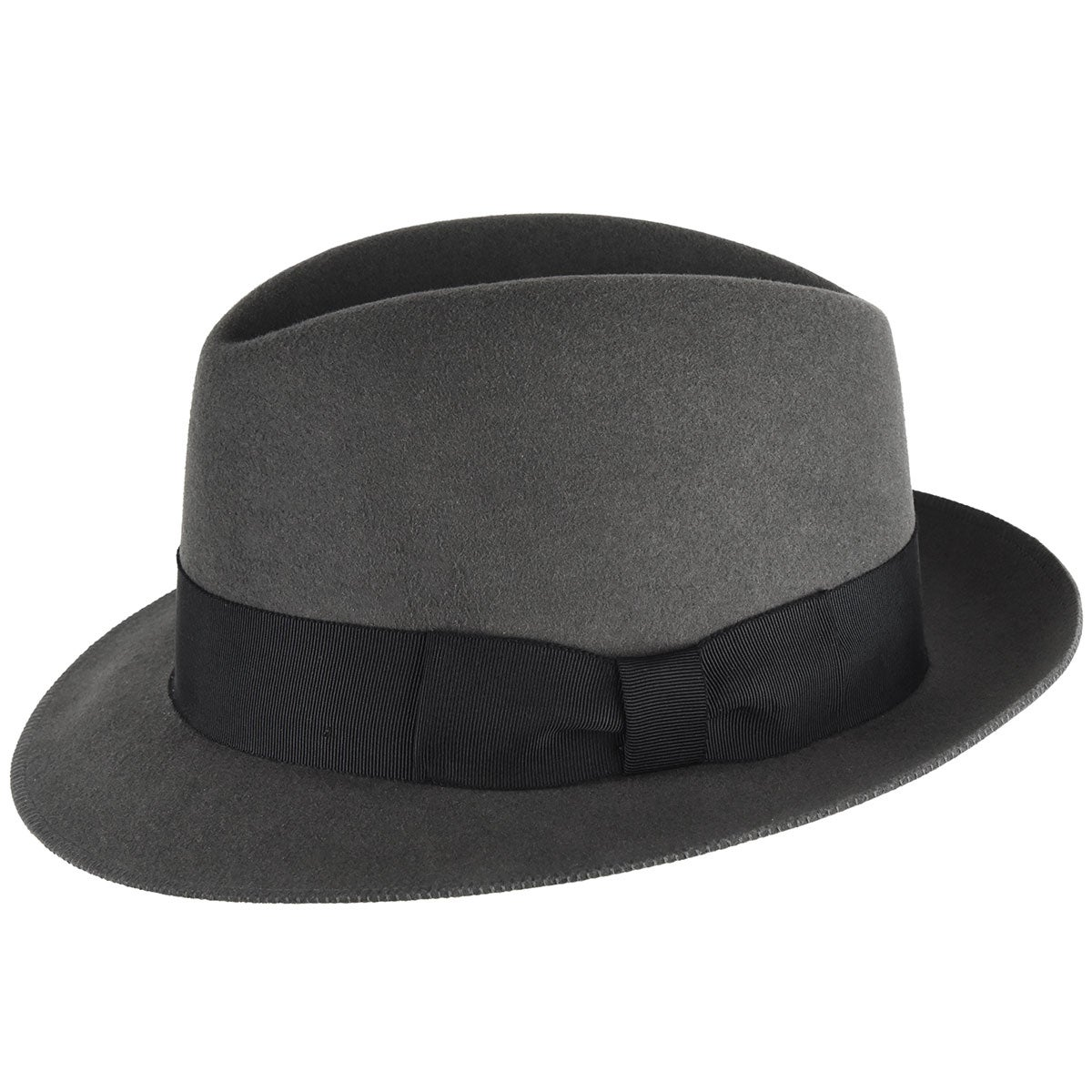 1940s Mens Hats | Fedora, Homburg, Pork Pie Hats 1930s Bollman Collection Trilby $100.00 AT vintagedancer.com