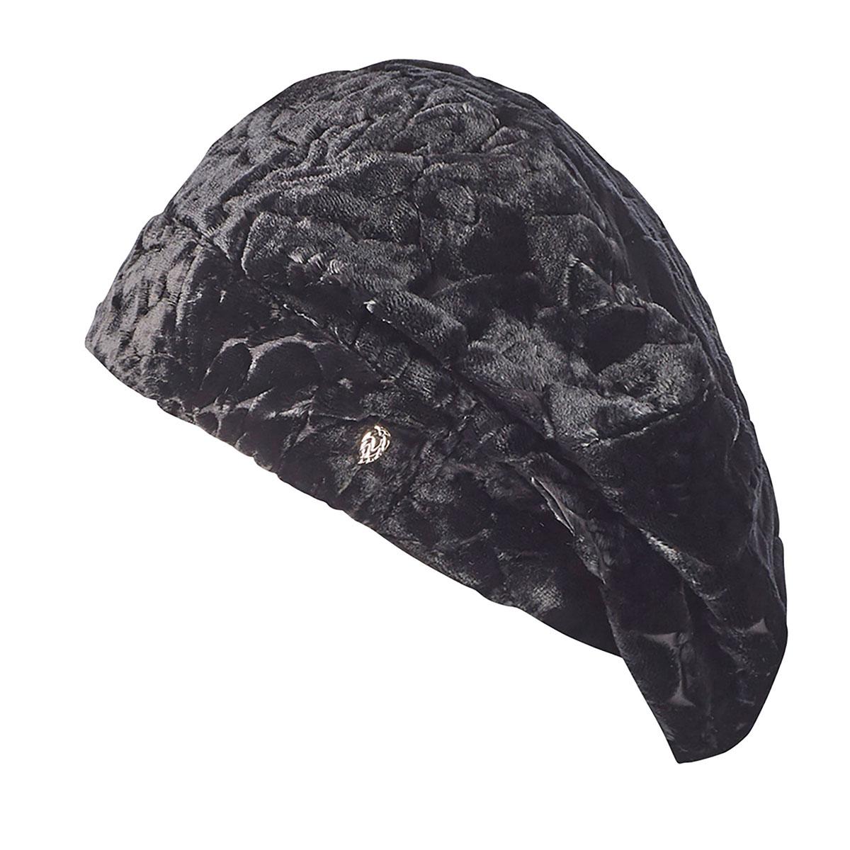 Helen Kaminski Carman Velvet Beret in Black